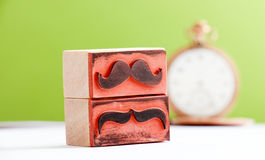 Carimbo de borracha dos bigodes Conceito da conscientização da saúde do ` s dos homens de Movember Fotos de Stock Royalty Free