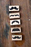 Carimbo de borracha dos bigodes Conceito da conscientização da saúde do ` s dos homens de Movember Fotografia de Stock Royalty Free