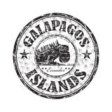 Carimbo de borracha dos consoles de Galápagos ilustração royalty free