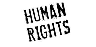 Carimbo de borracha dos direitos humanos fotografia de stock royalty free