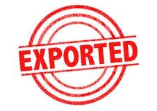 Carimbo de borracha exportado ilustração do vetor