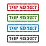 Carimbo de borracha extremamente secreto do grupo isolado no fundo branco Imagem de Stock
