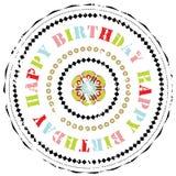 Carimbo de borracha: Feliz aniversario Foto de Stock