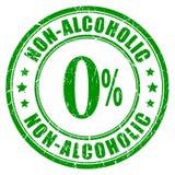 Carimbo de borracha não alcoólico ilustração stock