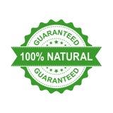 carimbo de borracha natural do grunge de 100% Ilustração do vetor em b branco Fotos de Stock