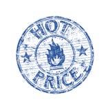 Carimbo de borracha quente do preço Imagens de Stock