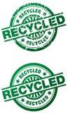 Carimbo de borracha recicl - limpe e estilo do grunge Imagens de Stock