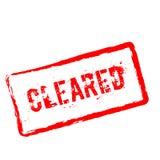 Carimbo de borracha vermelho cancelado isolado no branco ilustração do vetor