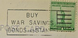 Carimbo postal do americano da ligação de guerra imagens de stock royalty free