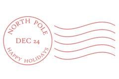 Carimbo postal do Pólo Norte Imagens de Stock