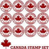 Carimbos de borracha canadenses Imagens de Stock
