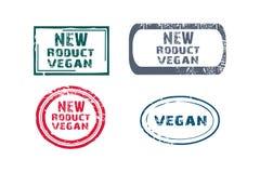 Carimbos de borracha novos do vegetariano ilustração stock