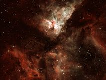 Carina Nebula Also Known As The Eta Carinae Nebula. The Carina Nebula is a large bright nebula that surrounds several star clusters. Eta Carinae Nebula in the stock image
