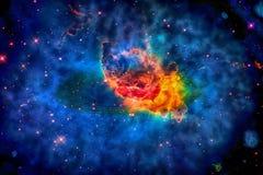 Carina Nebula i yttre rymd Arkivbild