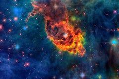 Carina Nebula nello spazio cosmico immagine stock libera da diritti