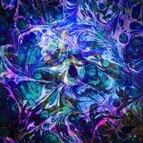 Carina Nebula Watercolor Abstract Eye | Fractale Art Background Wallpaper avec des éléments de la NASA/d'ESO illustration libre de droits