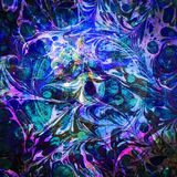 Carina Nebula Watercolor Abstract Eye | Frattale Art Background Wallpaper con gli elementi dalla NASA/ESO royalty illustrazione gratis