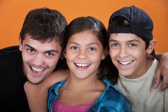 Caring Brothers and Sister Royalty Free Stock Images