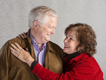 Caring Couple Embracing Stock Image
