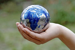 Caring for Earth. And protecting our future Stock Image