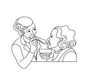 Caring for the elderly.Consultation medical diagnosis.Nurse  Stock Photos
