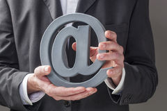 Caring for emailing business Royalty Free Stock Image