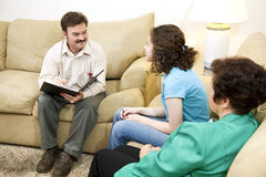 Caring Family Therapist. Counseling a teenage girl and her mother Royalty Free Stock Photos