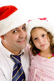 Caring father posing with his daughter Royalty Free Stock Images