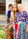 Caring Grandchildren stock photo