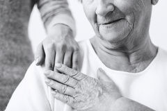 Caring about grandma Royalty Free Stock Photography