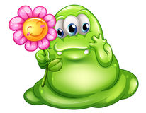 A caring greenslime monster Royalty Free Stock Photos
