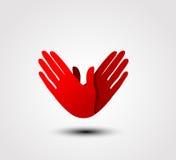 Caring hand icon Stock Photos