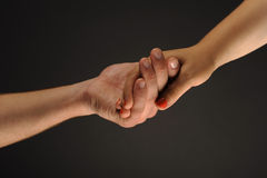 Caring Hands. Hands caring and supporting each other stock photography