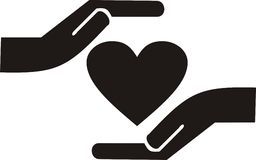 Caring hands Stock Images