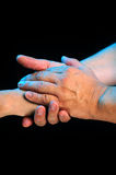 Caring Hands. Hands caring and supporting each other royalty free stock photos