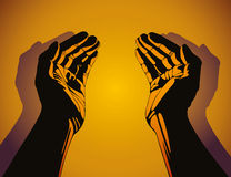 Caring hands. Caring hands, beautiful vector illustration stock illustration
