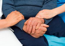Caring Hands For Elderly Stock Photography