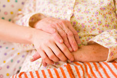 Caring hands - helping the needy Royalty Free Stock Photography