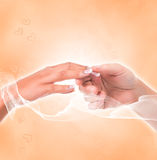 Caring hands Stock Image