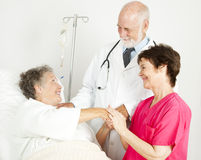 Caring Hospital Staff Stock Photo