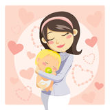 Caring Mother stock illustration