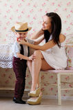 Caring mother and son Royalty Free Stock Photo
