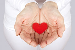 Caring for my heart Stock Photography