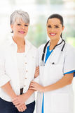 Caring nurse patient Stock Photography