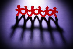 Caring paper chain people Royalty Free Stock Photography