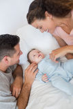 Caring parents with baby boy Royalty Free Stock Image