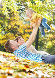 Caring parents playing with baby Royalty Free Stock Images