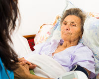 Caring for Senior Patient Royalty Free Stock Images