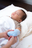 Caring for sick baby Royalty Free Stock Photos