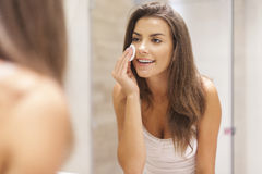 Caring of the skin Stock Images